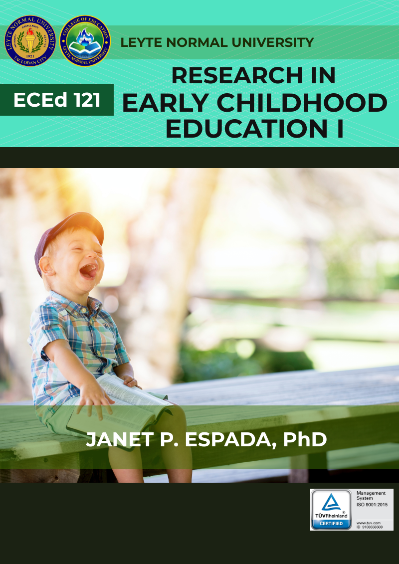 Research in Early childhood Education 1 (Preparation for Research Proposal)
