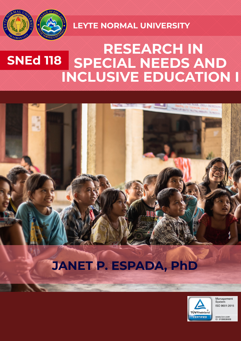 Research in Special Needs and Inclusive Education 1 (Preparation for Research Proposal)