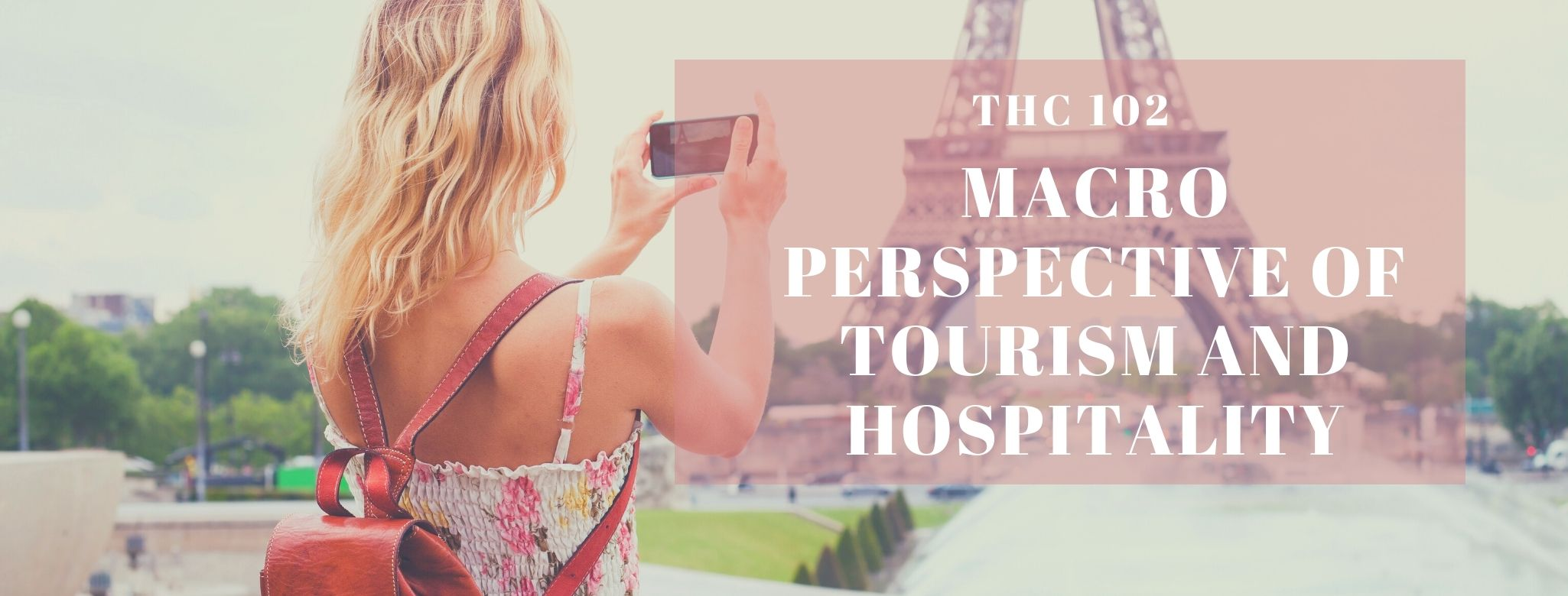MACRO PERSPECTIVE OF TOURISM AND HOSPITALITY