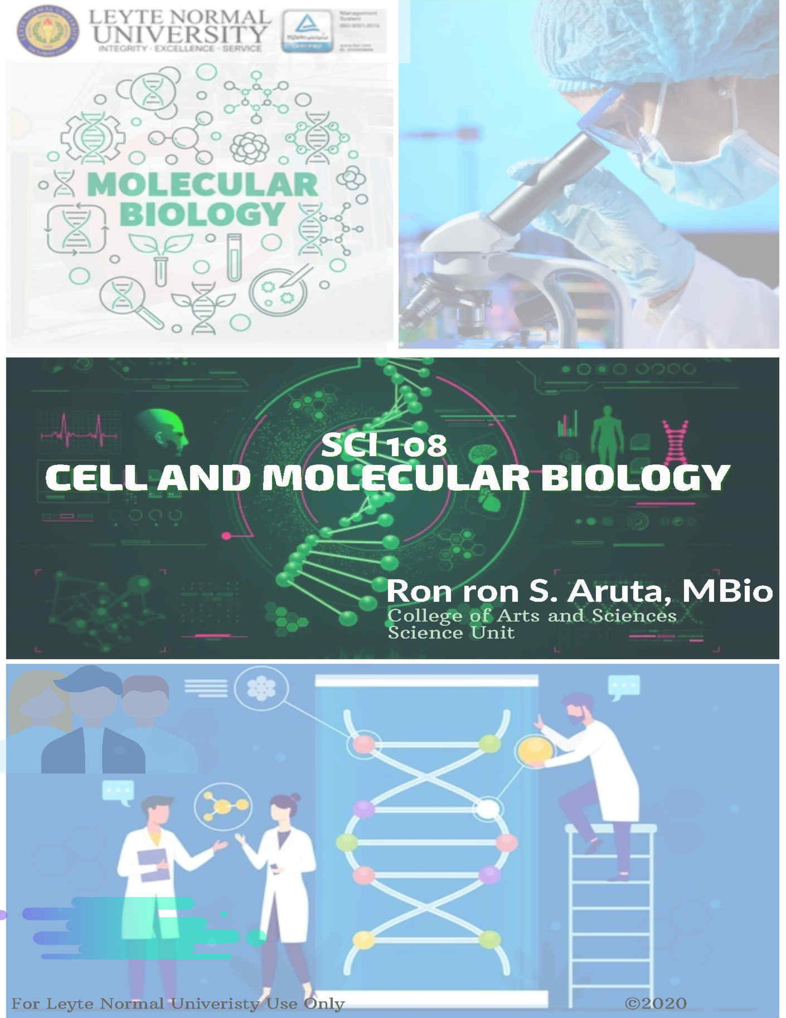 SCI 108 Cell and Molecular Biology