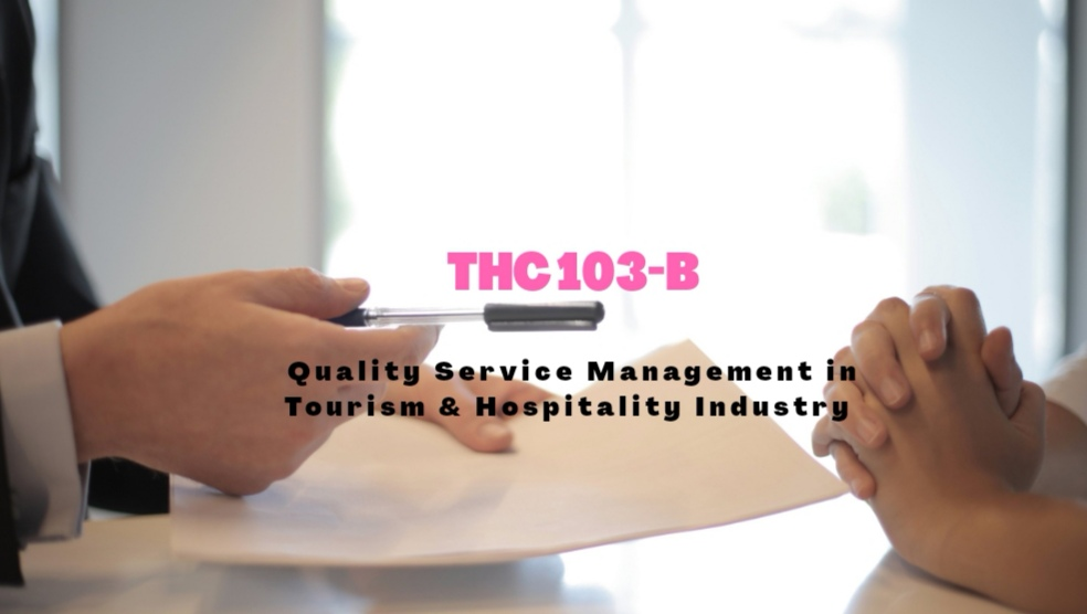 Quality Service Management in Tourism and Hospitality